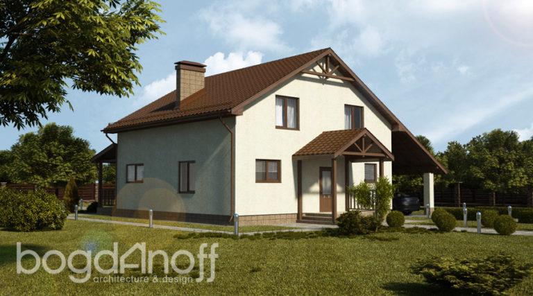 Готовый проект дома П17-1