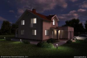 Готовый проект дома П3-8