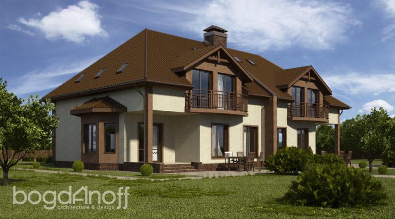 Готовый проект дома П7-4