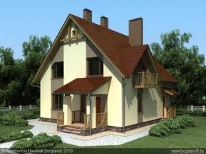 Готовый проект дома П3-1