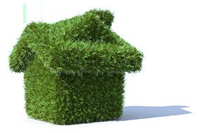 домик из травы